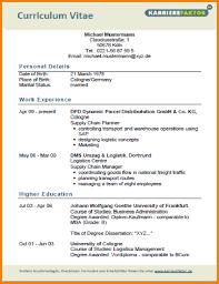 Cv Vorlage Englisch Usa Lebenslauf Vorlagen Englisch Starengineering