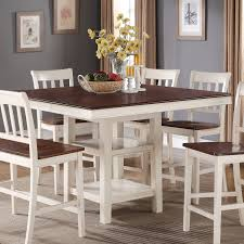 The Brick Dining Room Furniture Nyla Counter Height Dining Table Antique White And Cherry The