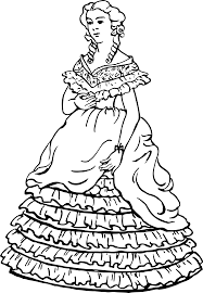 clipart lady in dress 6