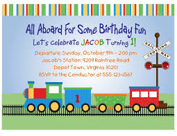 birthday invitation themes train birthday invitations lilbibby com