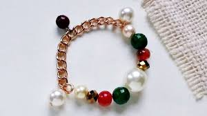 diy bead chain bracelet images How to create a beaded chain charm bracelet diy crafts tutorial jpg