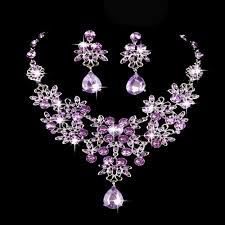 vintage wedding necklace images Purple the bride necklace the bride of jewelry bridal necklace jpg