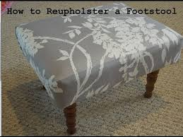 Debbie Travis Ottoman Diy How To Reupholster A Foot Stool From The Thrift Store