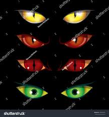 set creepy eyes halloween elements stock vector 458832466