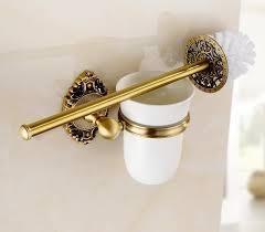 new arrival sanitary hardware set antique brass finished bathroom