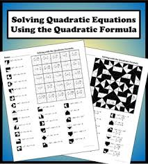 solving with the quadratic formula color worksheet by aric thomas