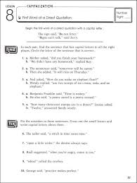 best ideas of capitalization worksheets grade 8 in free
