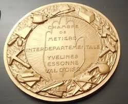 chambre des metiers du val d oise médaille signée simon chambre de metier yvelines essonne val d