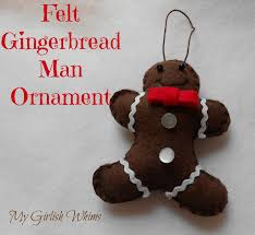 diy felt gingerbread ornament my girlish whims