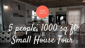 living in 1000 square feet small metal building house tour family of 5 living in 1000 sq ft