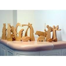 wooden nativity set modern wooden nativity set oak wood 15 handmade pieces