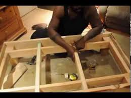 homemade wood toddler bed frame youtube