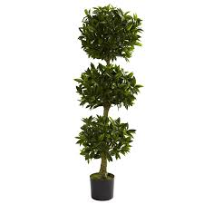 nearly 5381 bay leaf topiary uv resistant tree 5