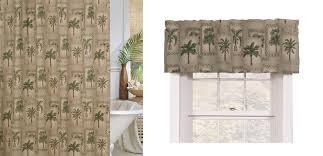 Green Bathroom Window Curtains Palm Grove Shower Curtain And Valance By Karin Maki Crystal