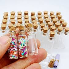 jewelry party favors 10 miniature glass bottles with cork beachfront decor