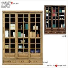Cherry Bookcases With Glass Doors Solid Wood Bookcases With Glass Doors Bookcase Cherry