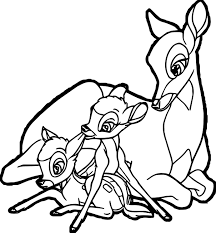 mother coloring pages bambi mother child deers coloring pages wecoloringpage