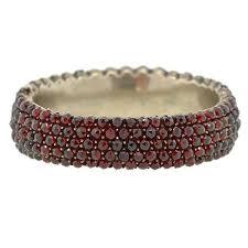 garnet bangle bracelet images Victorian silver bohemian garnet bangle bracelet a brandt son jpg