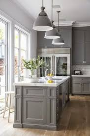 classic gray kitchen cabinet paint color kitchen ideas