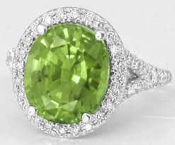 green gemstone rings images Green gemstone rings with large oval peridot in 14k white gold gr jpg