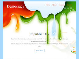 democracy free bootstrap template for newsletter is a seasonal