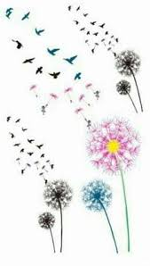 image result for dandelion butterfly designs daisies