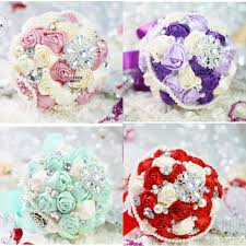 bouquets for wedding artificial wedding bouquets for wedding purple green pink