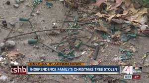 real life grinch steals children u0027s christmas tree and decorations