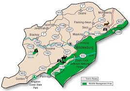 kentucky map harlan mountaintop removal at oven fork near whitesburg letcher county
