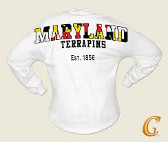 Maryland Flag Vinyl Collegiate Glamour University Of Maryland Terrapins Spirit