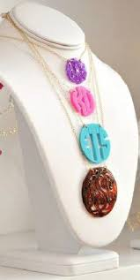 acrylic monogram necklace acrylic monogram necklace fresh ink