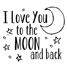 designer stencils i you to the moon and back stencil fs057