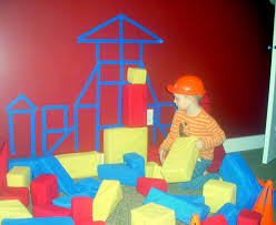 Wall Decoration For Preschool by Use Painters Tape To Outline The Shape Of Blocks On The Wall For