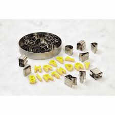 Steel Cutter Cake Boss Decorating Tools 26 Piece Stainless Steel Alphabet