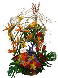 tropical flower arrangements birds of paradise twist tropical flower arrangement event flowers ny