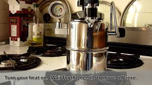 vintage espresso maker proper use of bellman cx 25p youtube