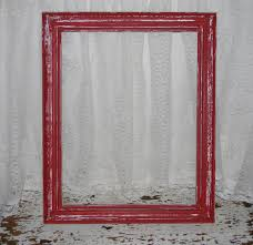 farmhouse red picture frame reclaimed vintage distressed home