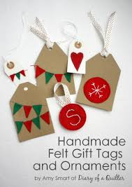 handmade felt ornaments gift tags and bunting skip to my lou