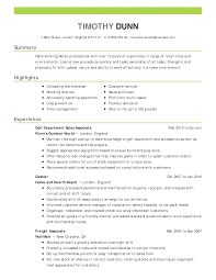 Retail Resume Examples Resume Tips Retail Manager
