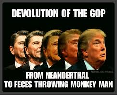 Gop Meme - devolution of the gop republican memes from neanderthal to feces