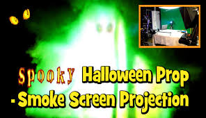 diy spooky halloween fx prop smoke screen projection youtube