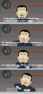 Comcast Meme - the south park kids decide to try reason with comcast time warner