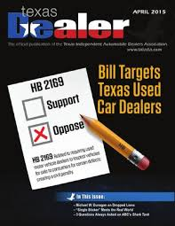 Independent Auto Dealer Floor Plan Texas Dealer April 2015 By Texas Independent Auto Dealers