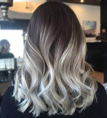 ash brown hair with pale blonde highlights a strong fashion ombre colour melts pinterest platinum