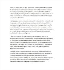 privacy notice template u2013 20 free samples examples format