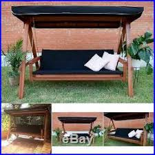 porch swing bed daybed outdoor 3 seat canopy convertible bench