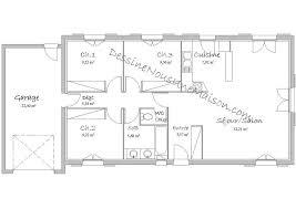 plan de maison plain pied 3 chambres gratuit plan maison plain pied 100m2 plans de maisons individuelles avec 3