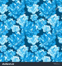 watercolor handmade pattern blue crystal lotuses stock