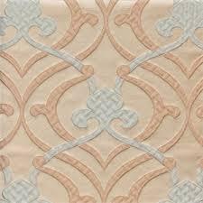 Silk Drapery Fabric By The Yard Provincial Powder Blue Fleur De Lis Faux Silk Drapery Fabric