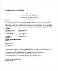 Import Export Resume Sample by Finance Resume Templates 28 Free Word Pdf Documents Download